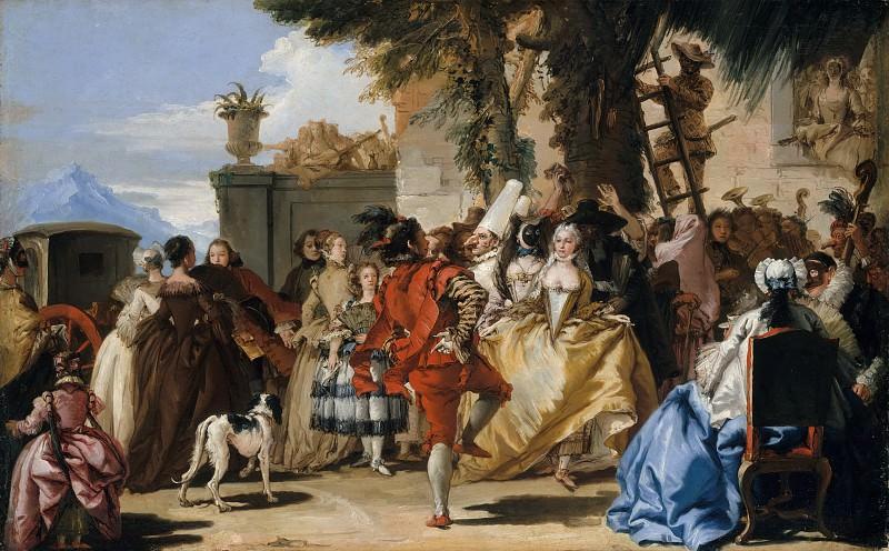 Giovanni Domenico Tiepolo - A Dance in the Country. Metropolitan Museum: part 1