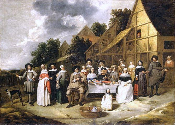 Gillis van Tilborgh - Group Portrait: A Wedding Celebration. Metropolitan Museum: part 1