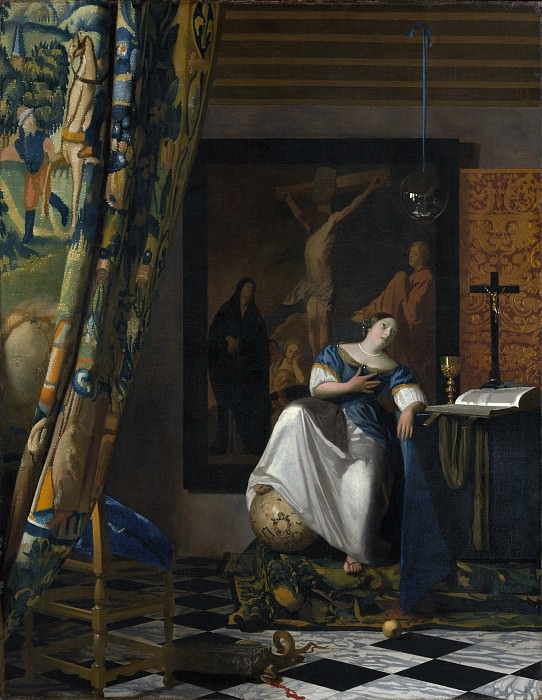 Johannes Vermeer - Allegory of the Catholic Faith. Metropolitan Museum: part 1