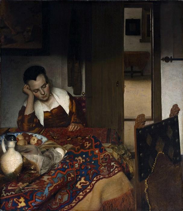 Johannes Vermeer - A Maid Asleep. Metropolitan Museum: part 1