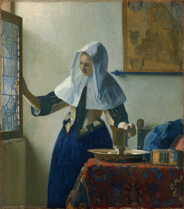 Johannes Vermeer - Young Woman with a Water Pitcher. Metropolitan Museum: part 1