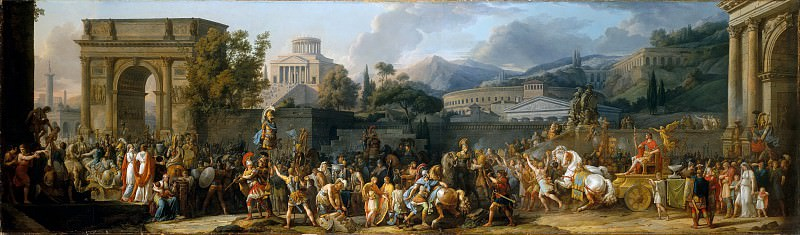Carle Vernet (French, Bordeaux 1758–1836 Paris) - The Triumph of Aemilius Paulus. Metropolitan Museum: part 1
