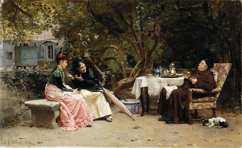 Jean-Georges Vibert - The Reprimand. Metropolitan Museum: part 1