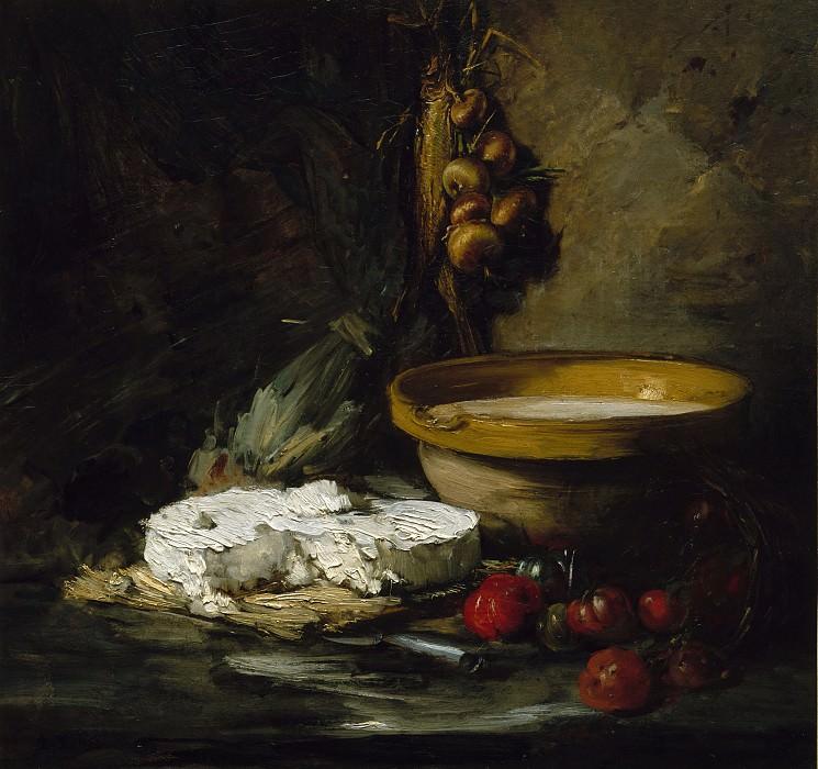 Antoine Vollon - Still Life with Cheese. Metropolitan Museum: part 1