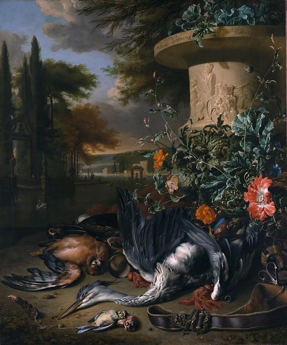 Jan Weenix - Gamepiece with a Dead Heron (Falconer's Bag). Metropolitan Museum: part 1