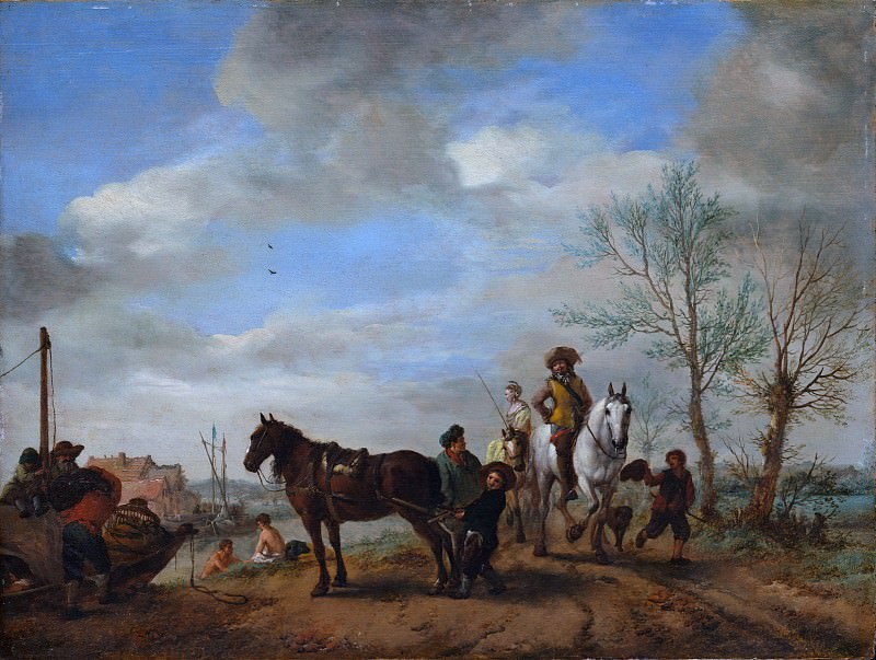 Philips Wouwermans - A Man and a Woman on Horseback. Metropolitan Museum: part 1