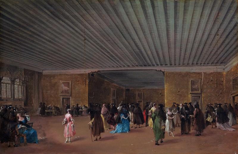 Francesco Guardi - The Ridotto Pubblico at Palazzo Dandolo. Metropolitan Museum: part 1
