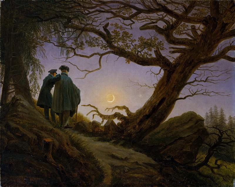 Caspar David Friedrich - Two Men Contemplating the Moon. Metropolitan Museum: part 1