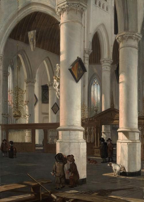 Emanuel de Witte - Interior of the Oude Kerk, Delft. Metropolitan Museum: part 1