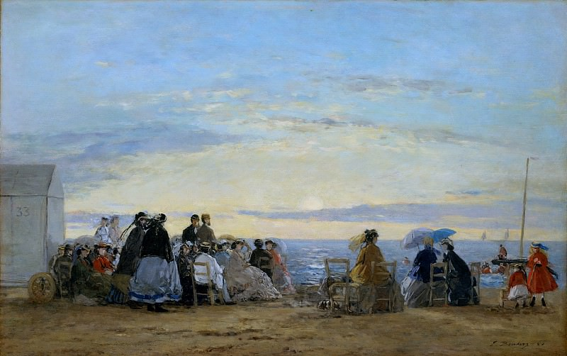 Eugène Boudin - On the Beach, Sunset. Metropolitan Museum: part 1