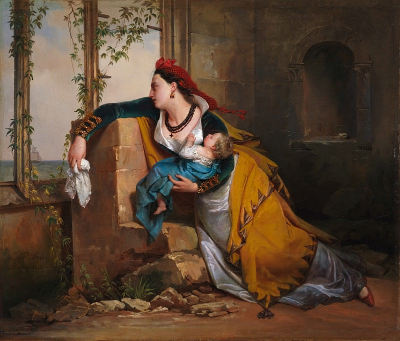Attributed to Jean-Augustin Franquelin - The Mariner's Wife. Metropolitan Museum: part 1
