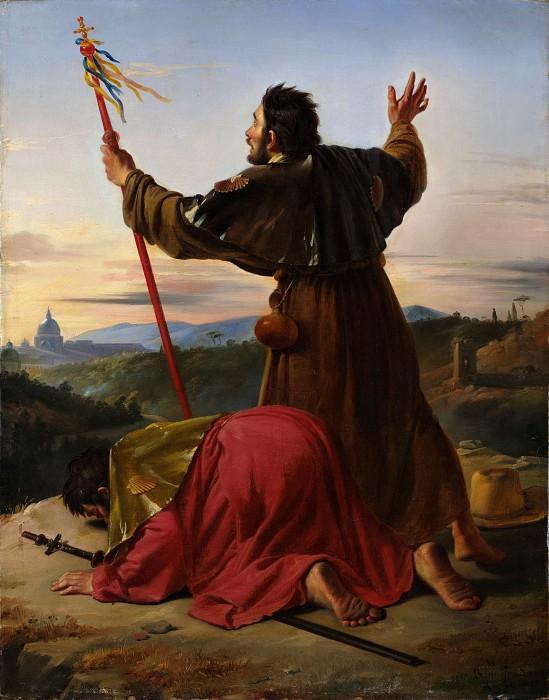 Claude Bonnefond - Pilgrims Arriving at Rome during the Jubilee. Metropolitan Museum: part 1