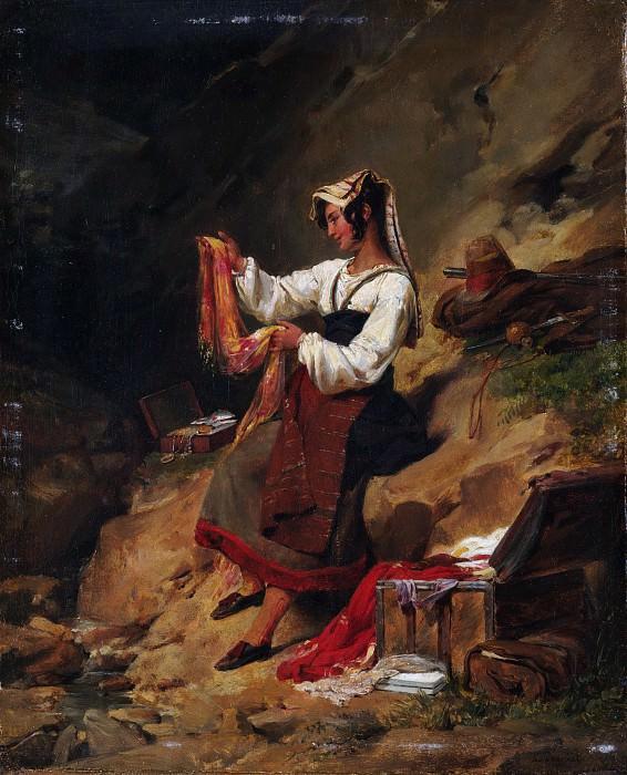 Léon Cogniet - The Italian Brigand's Wife. Metropolitan Museum: part 1