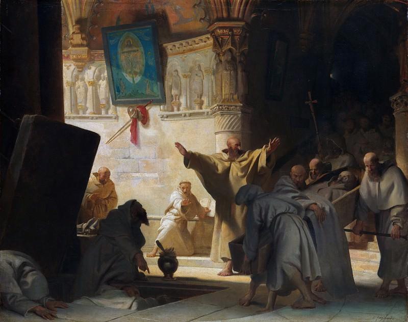 Alexandre-Evariste Fragonard - Burial of a Monk. Metropolitan Museum: part 1