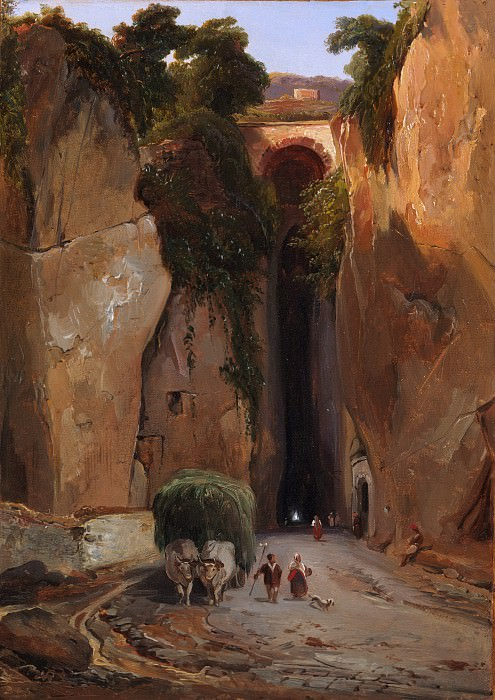 Charles Rémond - Entrance to the Grotto of Posilipo. Metropolitan Museum: part 1
