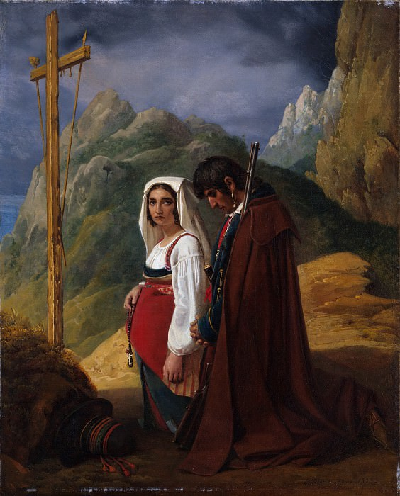 Léopold Robert - Brigand and His Wife in Prayer. Metropolitan Museum: part 1