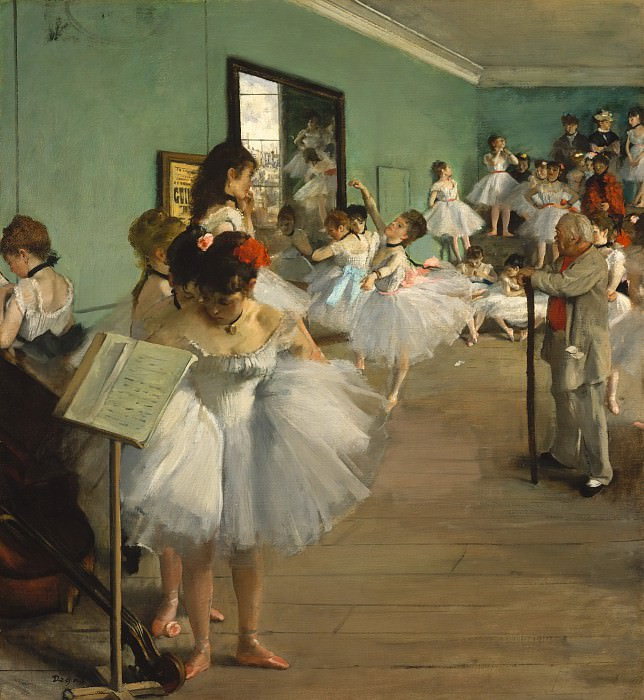Edgar Degas - The Dance Class. Metropolitan Museum: part 1