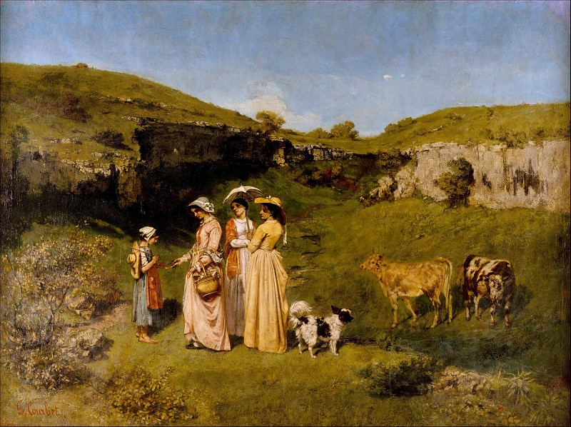 Gustave Courbet - Young Ladies of the Village. Metropolitan Museum: part 1