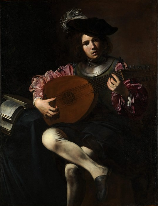 Valentin de Boulogne - The Lute Player. Metropolitan Museum: part 1