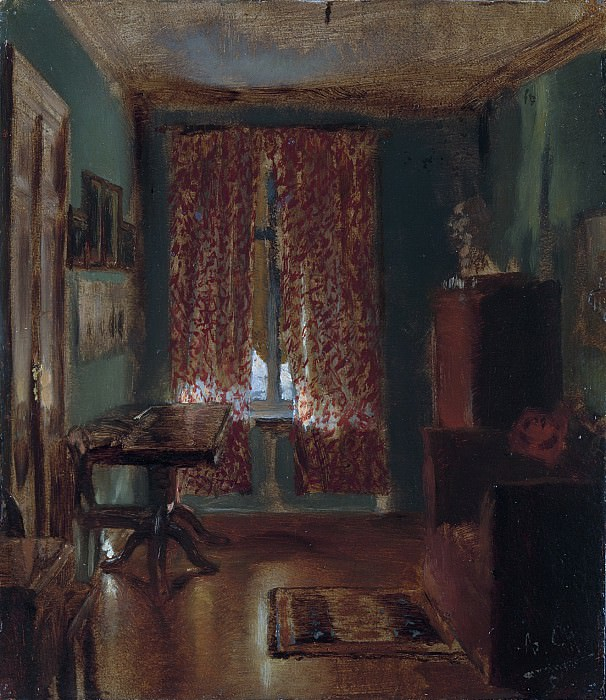 Adolph Menzel - The Artist's Sitting Room in Ritterstrasse. Metropolitan Museum: part 1