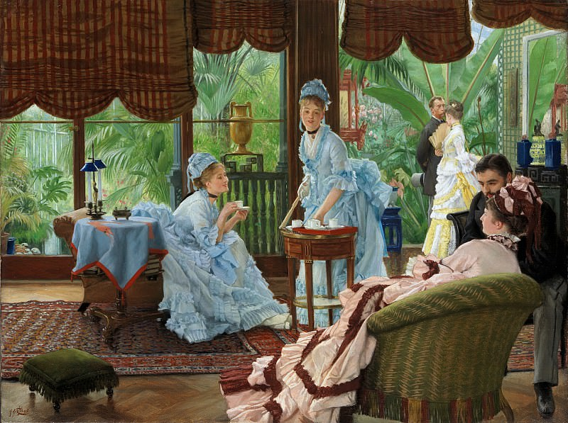 James Tissot - In the Conservatory. Metropolitan Museum: part 1