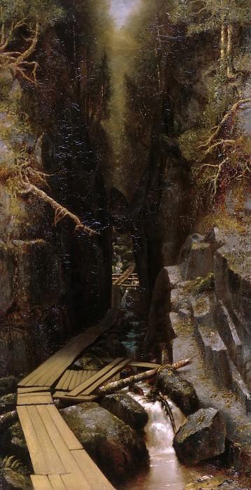 Ralph Albert Blakelock - The Boulder and the Flume. Metropolitan Museum: part 1