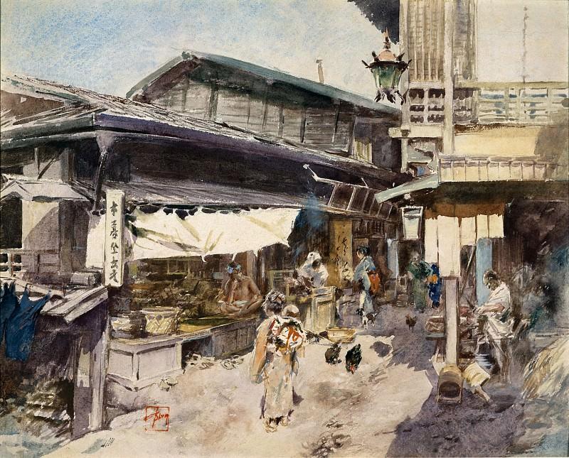 Роберт Фредерик Блум - Уличная сцена в Икао, Япония. Музей Метрополитен: часть 1