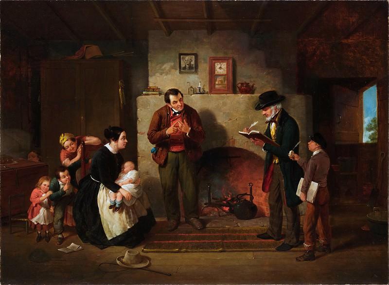 Francis William Edmonds - Taking the Census. Metropolitan Museum: part 1