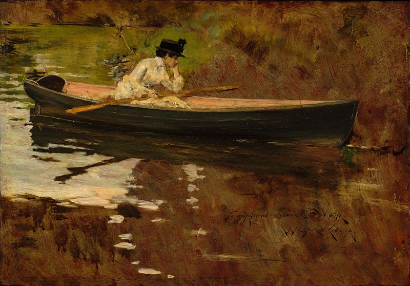 William Merritt Chase - Mrs. Chase in Prospect Park. Metropolitan Museum: part 1