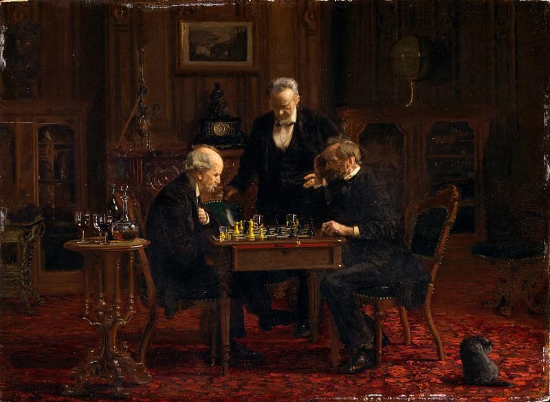 Thomas Eakins - The Chess Players. Metropolitan Museum: part 1