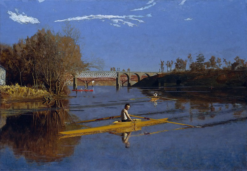 Thomas Eakins - The Champion Single Sculls (Max Schmitt in a Single Scull). Metropolitan Museum: part 1