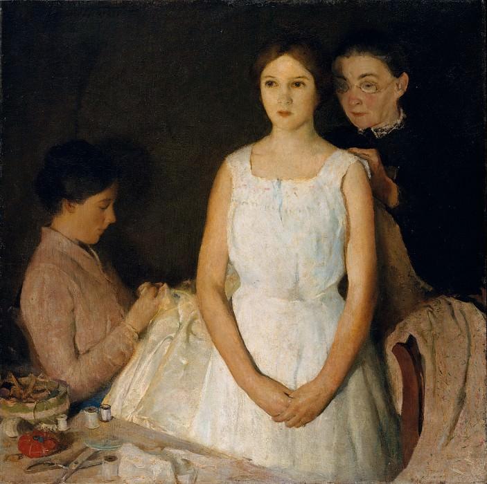 Charles Webster Hawthorne - The Trousseau. Metropolitan Museum: part 1