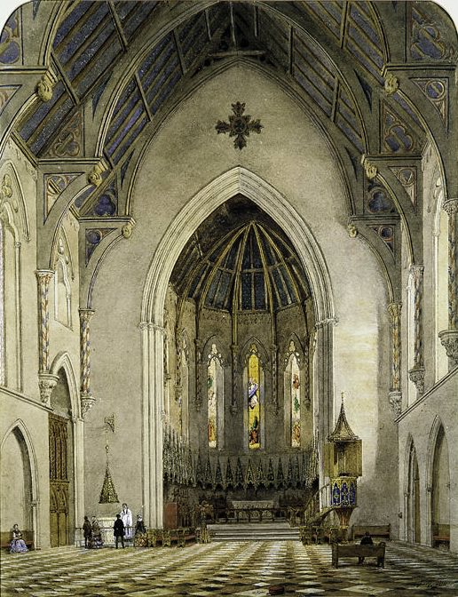 John William Hill - Chancel of Trinity Chapel, New York. Metropolitan Museum: part 1
