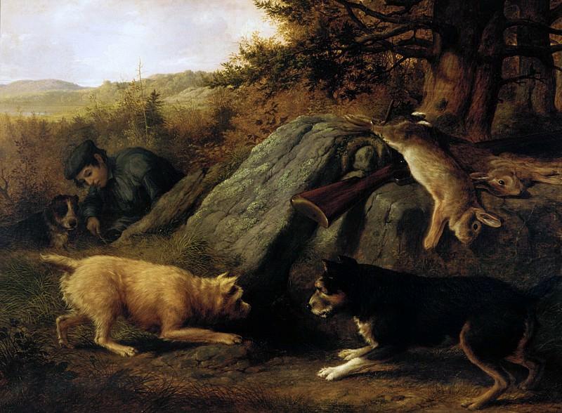 Thomas Hewes Hinckley - The Rabbit Hunters. Metropolitan Museum: part 1