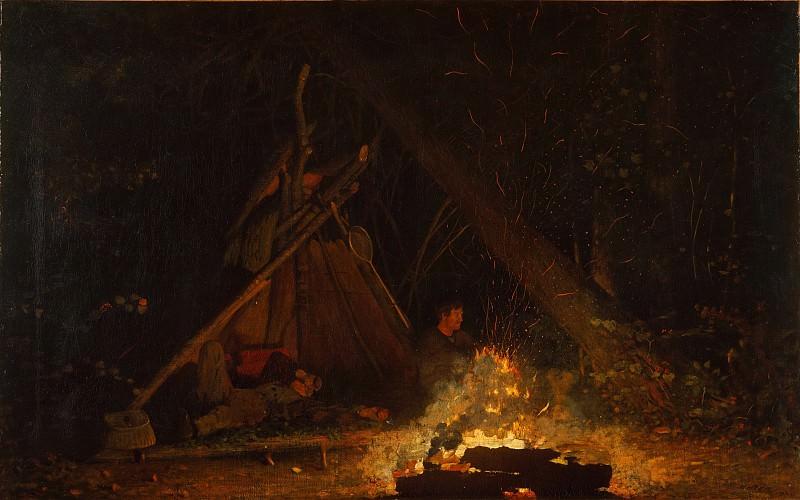 Winslow Homer - Camp Fire. Metropolitan Museum: part 1