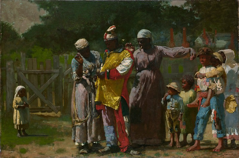 Winslow Homer - Dressing for the Carnival. Metropolitan Museum: part 1