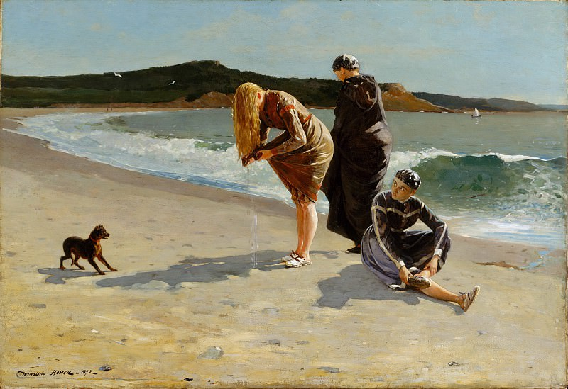 Winslow Homer - Eagle Head, Manchester, Massachusetts (High Tide). Metropolitan Museum: part 1