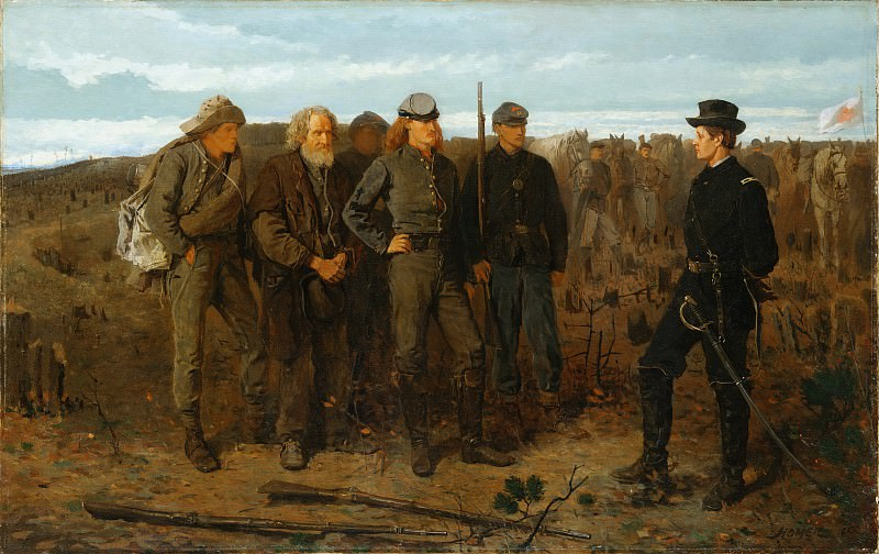 Winslow Homer - Prisoners from the Front. Metropolitan Museum: part 1