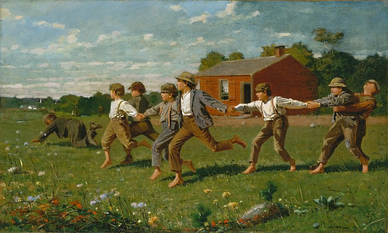Winslow Homer - Snap the Whip. Metropolitan Museum: part 1