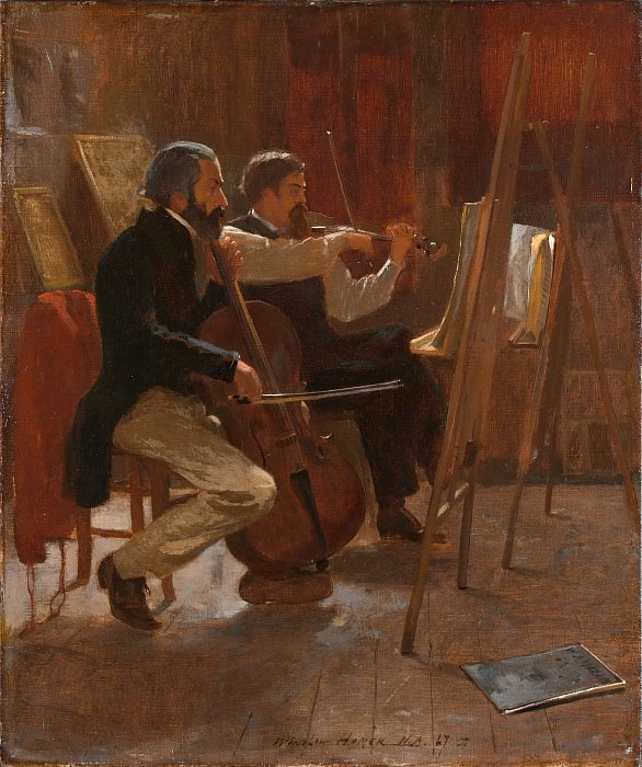 Winslow Homer - The Studio. Metropolitan Museum: part 1