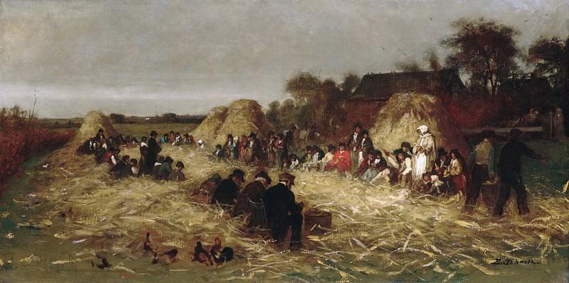 Eastman Johnson - Corn Husking at Nantucket. Metropolitan Museum: part 1