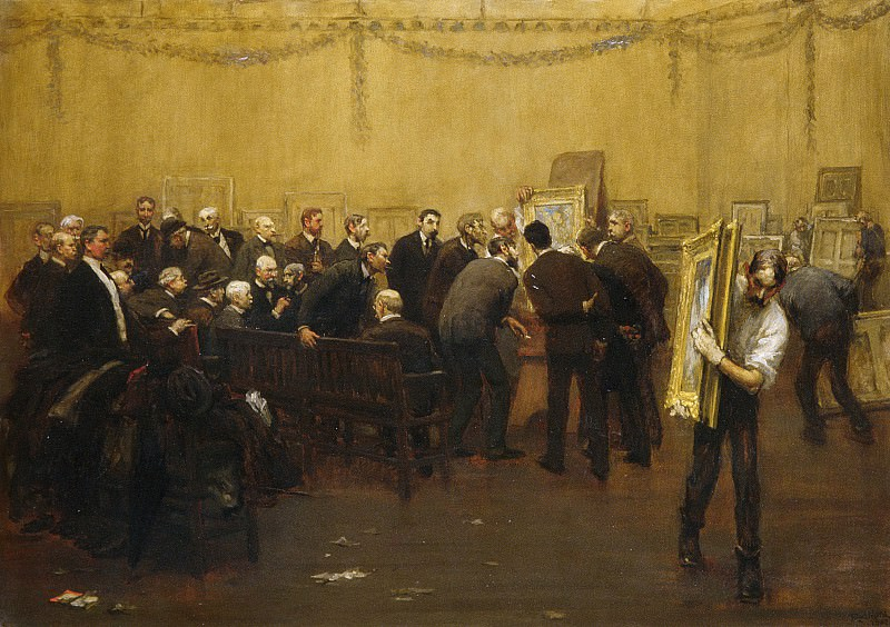 F. Luis Mora - The National Academy Jury of 1907. Metropolitan Museum: part 1