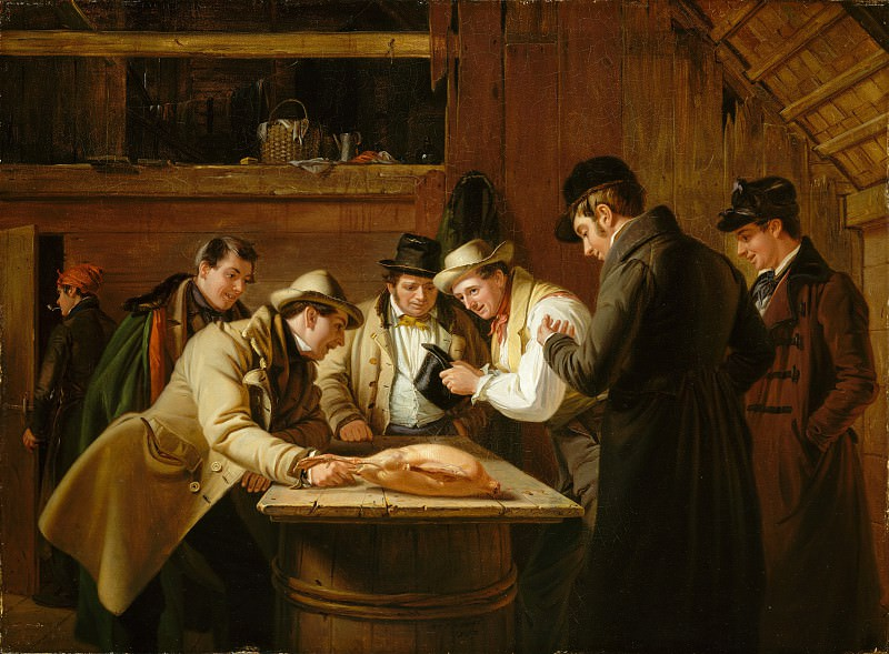 William Sidney Mount - The Raffle (Raffling for the Goose). Metropolitan Museum: part 1
