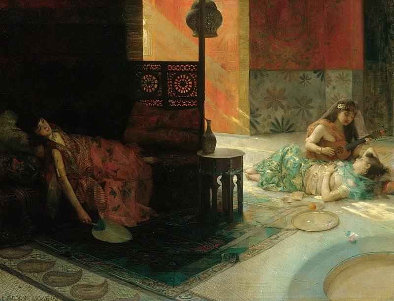 Henry Siddons Mowbray - Harem Scene. Metropolitan Museum: part 1