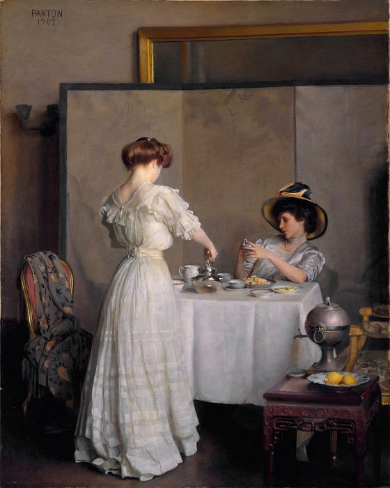 William McGregor Paxton - Tea Leaves. Metropolitan Museum: part 1