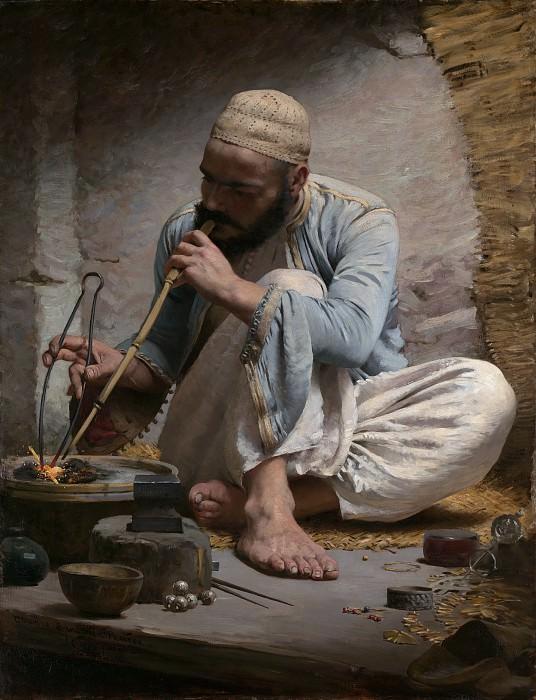 Charles Sprague Pearce - The Arab Jeweler. Metropolitan Museum: part 1