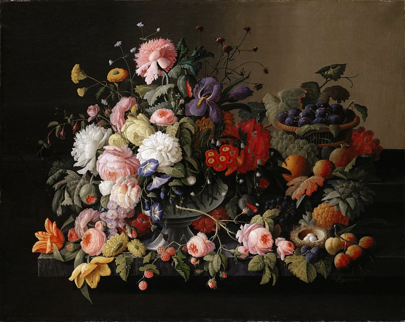 Severin Roesen - Still Life: Flowers and Fruit. Metropolitan Museum: part 1
