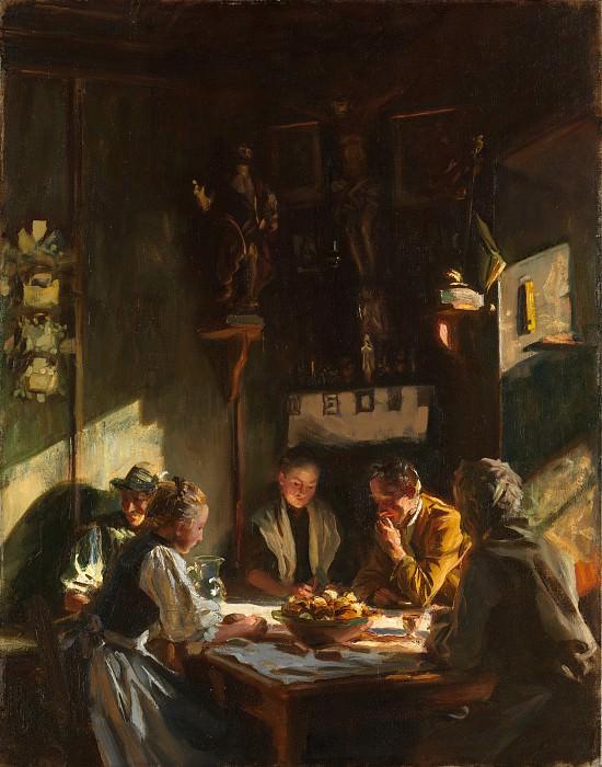 John Singer Sargent - Tyrolese Interior. Metropolitan Museum: part 1
