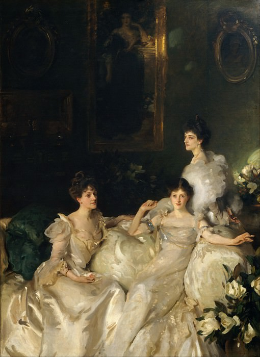 John Singer Sargent - The Wyndham Sisters: Lady Elcho, Mrs. Adeane, and Mrs. Tennant. Metropolitan Museum: part 1