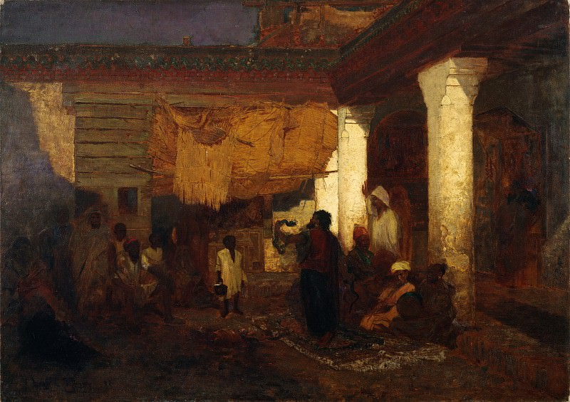 Louis Comfort Tiffany - Snake Charmer at Tangier, Africa. Metropolitan Museum: part 1